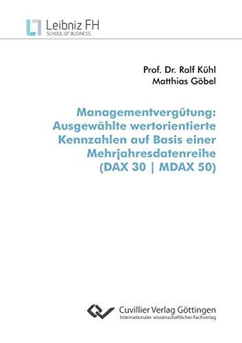 Managementvergütung: Ausgewählte wertorientierte Kennzahlen auf Basis einer Mehrjahresdatenreihe (DAX 30 | MDAX 50)