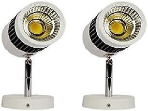 Glitz Metal 6W 2700K LED Spot Bright Light, 8x6x4-inch (Warm White) - Set of 2