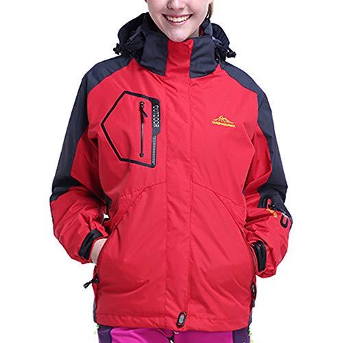 Yvelands Chaquetas y Abrigos, Vestido de Mujer Forro Polar Sudadera de Talla Grande para Exterior Conjunto de Dos Piezas Sport Assault Outwear Tank(Rojo Rojo,L)