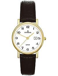 Dugena Damen-Armbanduhr Zenit - Traditional Classic Analog Quarz Leder 2171016