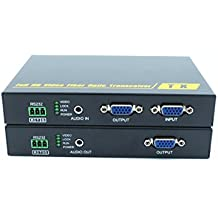 PWA-THF108KM-VGA KVM Optical Fiber Extender Up to10KM( 2 outputs VGA)supports high resolution up to 1080P, KVM, transmitter local output, RS232 signal and external audio transmission function.
