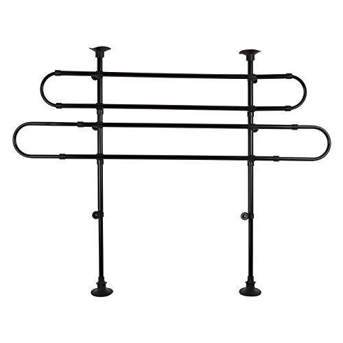 chien-et-grille-de-charges-noir-universel-reglable-en-hauteur-et-en-largeur