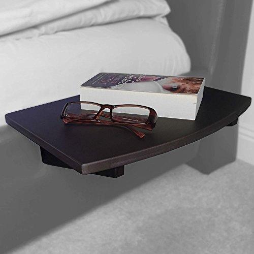 Nachttisch Nachtschrank, Nachtkonsole Regal aus Bambus (21mm, Schwarz)