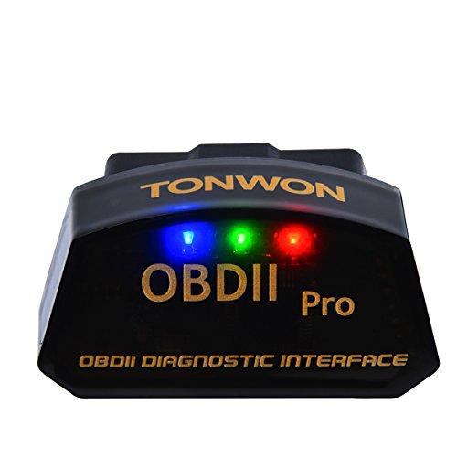 TONWON OBD2 Diagnosegerät OBDII Wi-Fi ELM327 Car Fault Code Reader für iOS und Android (Check-snap-design)