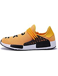WDDGPZYDX Calzado Deportivo Zapatos Hombres Zapatillas Outdoor Ultra Raises Tenis Zapatillas Transpirables Casual Superstar Zapatos Human Race,Amarillo,8.5
