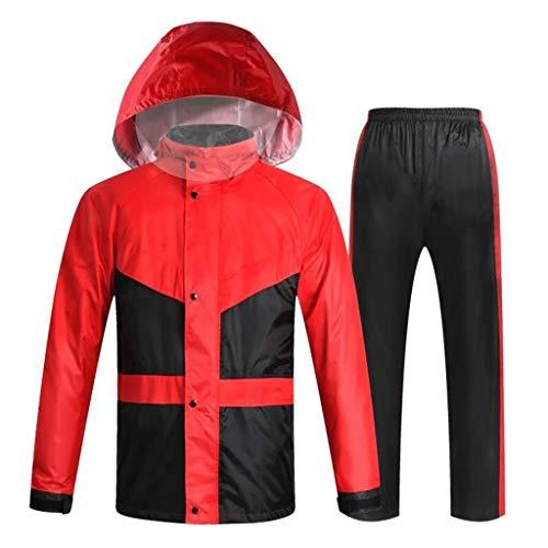 HGXC WY Regenmantel Regenanzug, Herrenmode Regenmantel Reiten im Freien Wandern Freizeit Reitkleidung draussen (Farbe : Red, größe : XL)