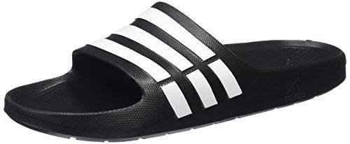 adidas Duramo Slide unisex Dusch-& BadeschuheSchwarz (Schwarz/Weiß/Schwarz), 53.5 EU (16 UK)
