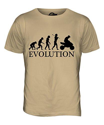 CandyMix Quad Evolution Des Menschen Herren T Shirt Sand