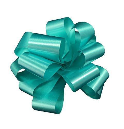 Star 50 fiocchi rapidi blu tiffany autotiranti da 31 mm, per decorazioni addobbi feste compleanni matrimonio cerimonie battesimo nascita bambino (coccarda blu tiffany)
