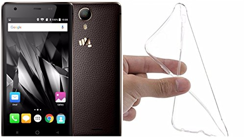 M.G.R.J [ Micromax Canvas 5 Lite Q462 / Q463 ] Ultra Thin 0.3mm Clear Transparent Flexible Soft TPU Slim Back Case Cover