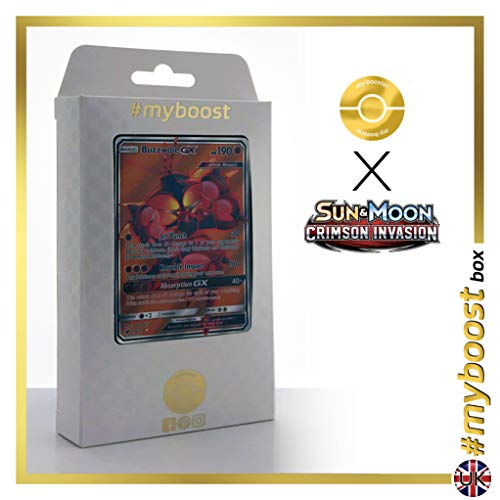 Buzzwole-GX 104/111 Full Art - #myboost X Sun & Moon 4 Crimson Invasion - Box de 10 cartas Pokémon Inglesas