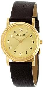 Sonata Analog Gold Dial Men's Watch - ND1141YL01