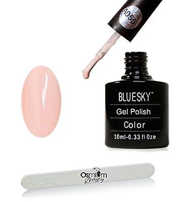 Bluesky UV/LEd Gel Polish - Soft Pink - With FREE Osmium Nail File