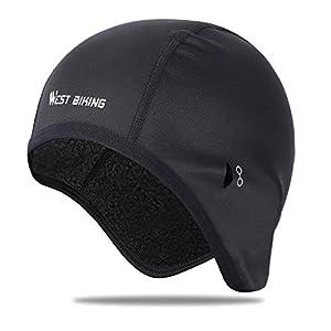 ICOCOPRO Fahrrad Mütze Helm-Unterziehmütze Herren/Damen | Bike Warm Cap | Winddichte Warm Wintermütze | Sport Mütze für Radfahren Skifahren Laufen Snowboarden Outdoor