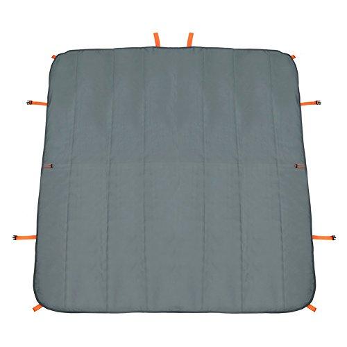Strand Picknick-Matte Camping Decken Multifunktions Gefaltete Aufbewahrungstasche Wasserdicht Sandproof Leichte Matte All-In-One 57,5   X 57,5   In,Gray -