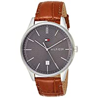 Tommy Hilfiger Mens Quartz Watch, Analog Display and Leather Strap 1791492