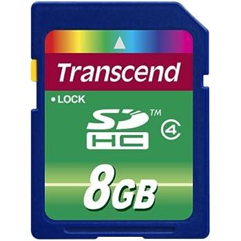 Transcend TS8GSDHC4 - Tarjeta de memoria SecureDigital de 8 GB (clase 4), Azul