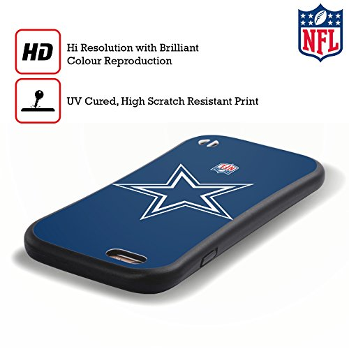 Offizielle NFL Helm Dallas Cowboys Logo Hybrid Hülle für Apple iPhone 6 Plus / 6s Plus Einfarbig