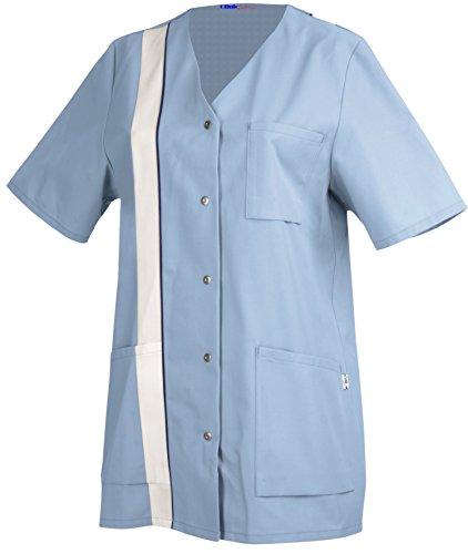 clinicfashion Kurzkasack hellblau für Damen, Mischgewebe, Größe 34-52 Hellblau