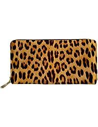 chaqlin - Cartera para Mujer Mujer Animal Leopard Skin One_Size