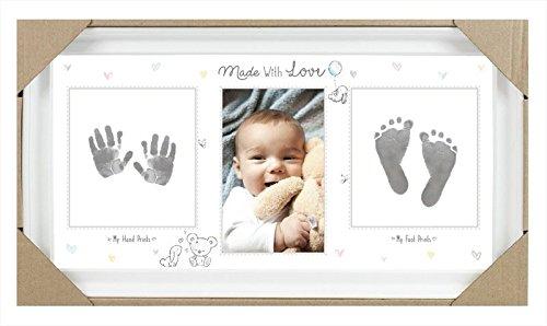 Baby-Andenken, Bilderrahmen für Fotos, Fuß- und Handabdrücke von Ihrem Baby, mit Tinte, zur Erinnerung an Ihr Baby, für Baby-Partys, als Geschenk