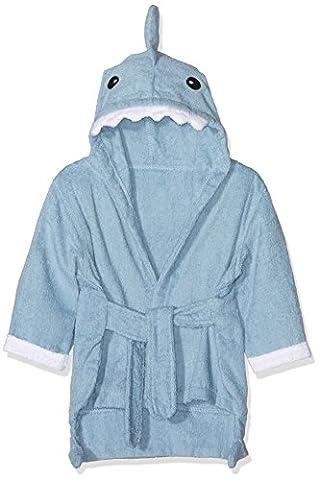 URAQT Baby Bathrobe Hooded, Soft Bath Towels, Cotton Infant Wrap, with Pattern Cute Animal (grey shark)