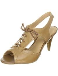 Via Uno Leather Casein 21139605 - Sandalias de cuero para mujer