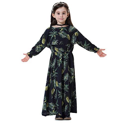 Lonshell Dubai Mädchen Blume Muster Prinzessin Kleider Gebet Kleid Nahen Osten Muslimische Kinder Robe Kleid Abayas Kaftan Islamische Ganzkörperansicht Abendkleid
