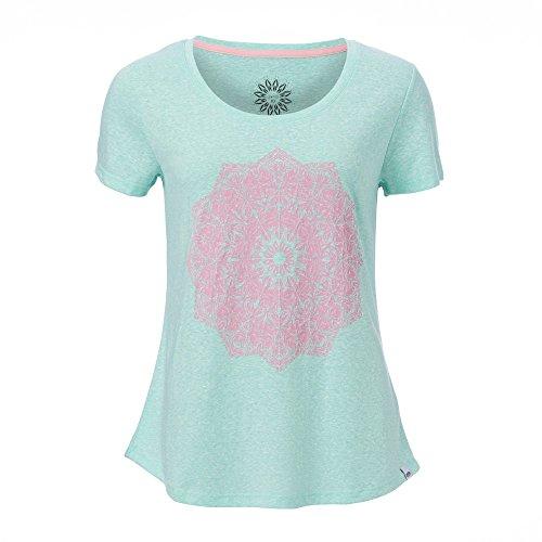 Damen T-Shirt Animal Mandala T-Shirt seafoam green marl