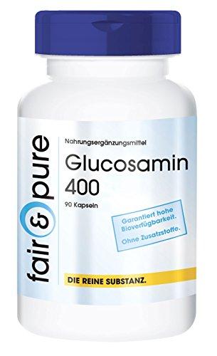 Glucosamin 400mg mit 250mg Collagen (hydrolysiert), Glucosamin und Collagen, 90 Glucosamin-Kapseln, wohltuend für die Gelenke und das Bindegewebe