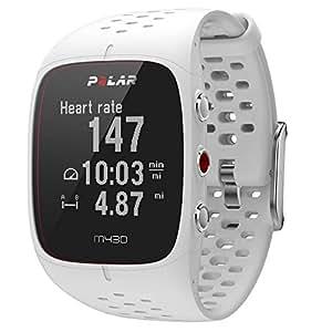 Polar M430 - Montre Running GPS avec Suivi de la Fréquence Cardiaque - Blanc - Taille S