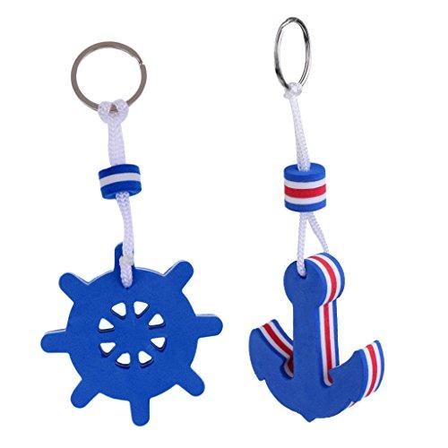 Homyl Schlüsselanhänger Schlüsselring Schwimmend, Blau, Geschenkidee. Menge: 2 Stück