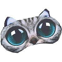 Antifaz para Dormir Máscara de Sueño Anti-Luz Máscara de Ojos 3D con gel Suave y Compacta Para Dormir en el Avión Coche y Tren