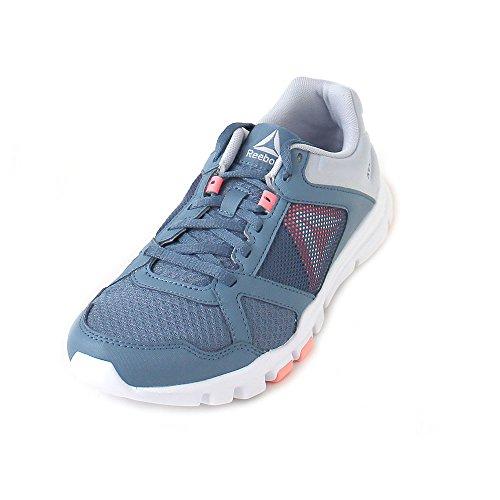 Reebok Damen Yourflex Trainette 10 Mt Fitnessschuhe, Mehrfarbig (Blue Slate/Cloud Grey/Digital Pink/White 000), 38 EU