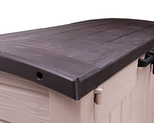Keter Gerätebox für Garten Mülltonnenbox Store It Out Arc beige braun - 9