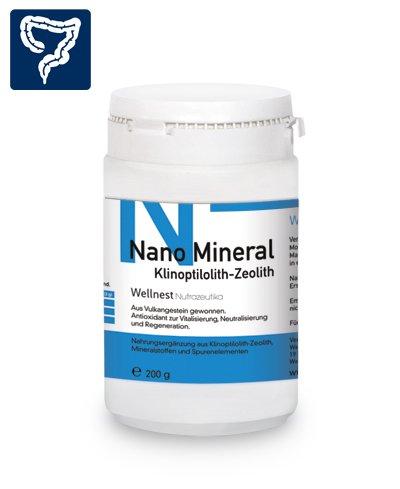 Wellnest Nano Mineral Zeolith-Klinoptilolith 200g Zeolithpulver | ohne künstliche Farb- oder Geschmacksstoffe - 100% natürlich und vegan | verarbeitet und abgefüllt in Deutschland