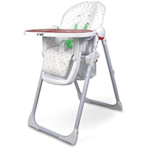 iSafe MAMA Highchair - Pepper Mint Recline Compact Padded Baby High Low Chair Complete With Double Tray & Storage Basket