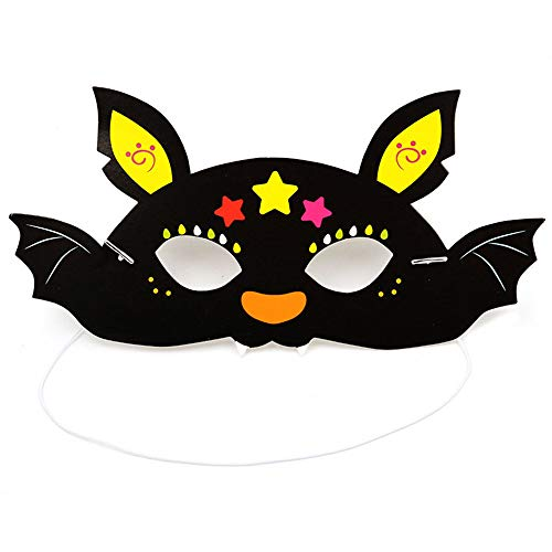 Star-Halloween Cartoon-Muster Papiermaske Kind Kindergarten Maskerade Party Geheimnis Maske...