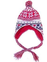 Step In Mädchen Norweger Strickmütze mit Fleece-Innenfutter, in der Farbkombination grau/fuchsia. Größen: 50/52 und 53/54.
