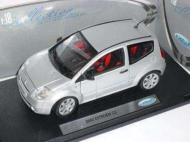 Citroen C2 C 2 Silber Silver 2003 Metallmodell 1/18 Welly Modellauto Modell Auto