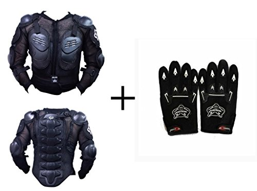 A&A Automobile A&A Automobile- Fox Riding Gear Body Armor Jacket For Bike Protective Jacket + Knighthood Gloves (Free Size) - Yamaha R15  available at amazon for Rs.1699