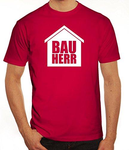 Eigenheim Herren T-Shirt mit Bauherr Motiv von ShirtStreet Sorbet