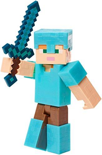 Minecraft Mattel - FLV93 Alex in Diamant Rüstung - Actionfigur (Minecraft Spielzeug Rüstung)