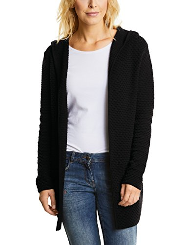 CECIL Damen Strickjacke Lene 252525 Schwarz (Black 10001), X-Large