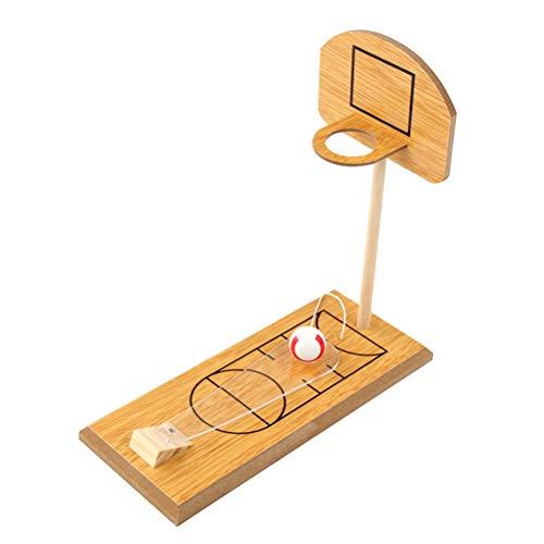 YeahiBaby Holz Desktop Basketball Spielzeug Mini spaß Basketball Spiel Spielzeug für mädchen Jungen Kinder (Desktop-basketball-spiel)