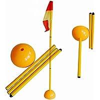 Fútbol esquina de golf desmontable Fútbol esquina poste y bandera Post Set ABS Base 1,5m 3Pole + Base + bandera de inyección de agua