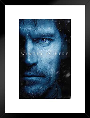 Pyramid America Game Thrones Season 7Jaime Lannister Winter ist Hier TV Show 20x26 inches Matted Framed Poster