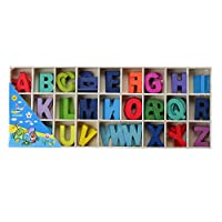 Zap Impex® colourful wood A to Z alphabets 26x5letters