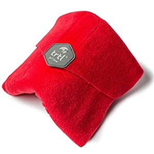 Trtl Pillow - Scientifically Proven Super Soft Neck Support Travel Pillow - Machine Washable Red