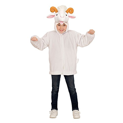 Imagen de widmann 97446–disfraz infantil de peluche de cabra, chaqueta con capucha y máscara